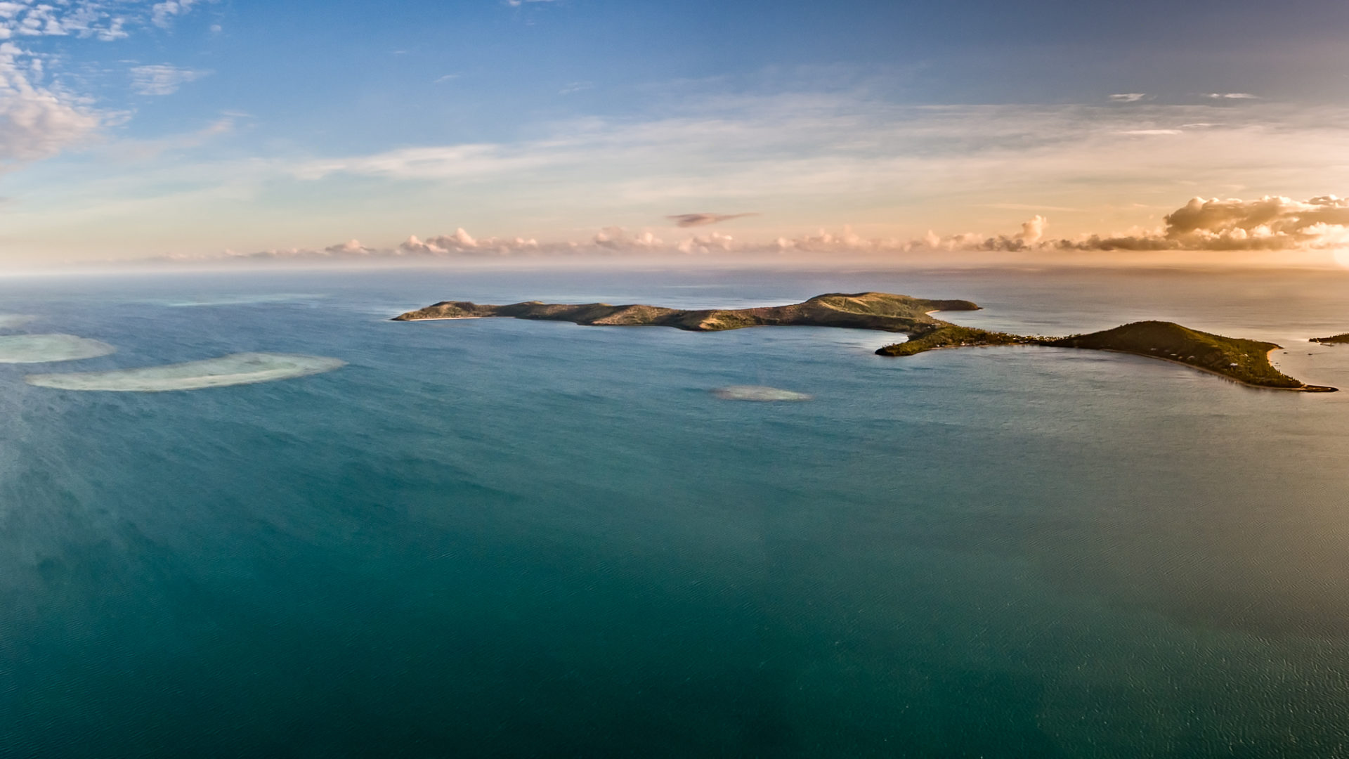 Fijian sunset, Phantom 4