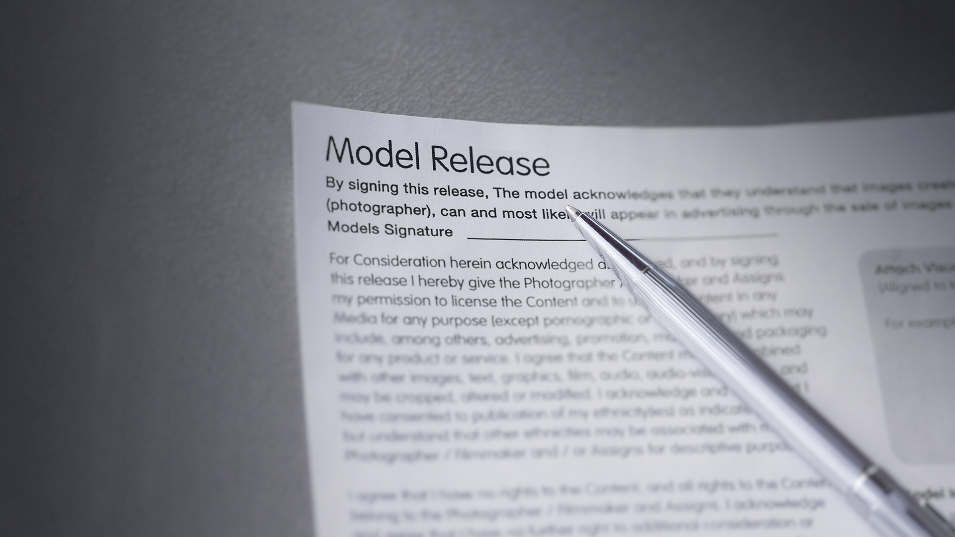 Featured- Where to Store Model Release Forms