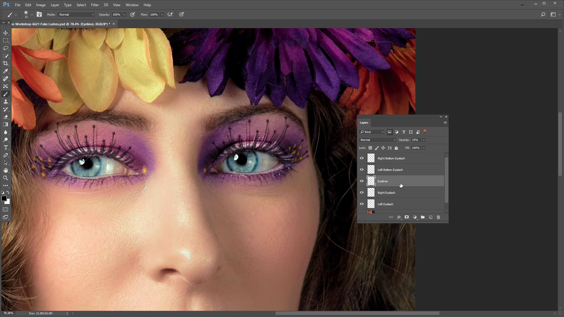 Featured-adding eye lashes