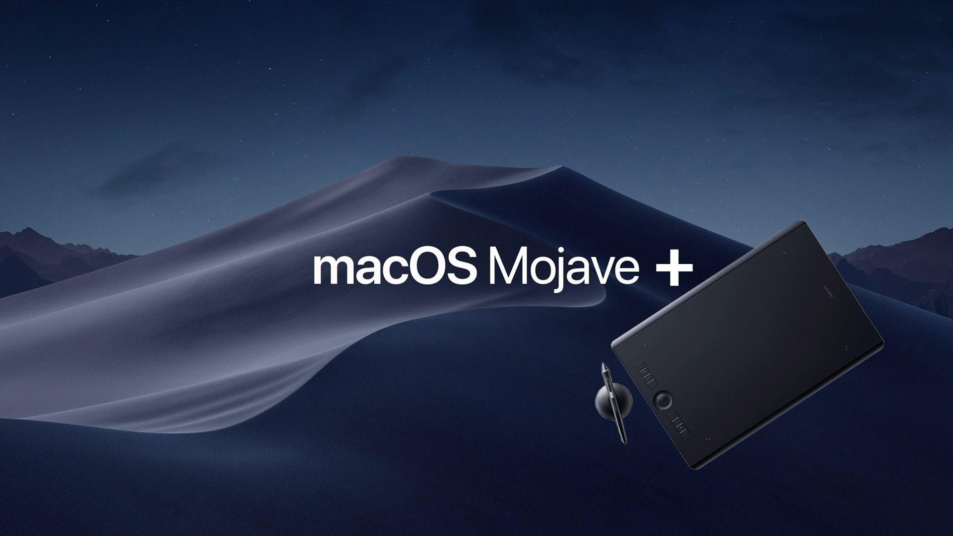 Wacom driver updated for macOS Mojave