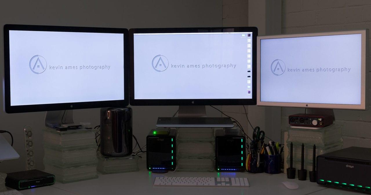 "My previous screens: 2-Apple 27"" Thunderbolt displays & a 23"" Cinema display"