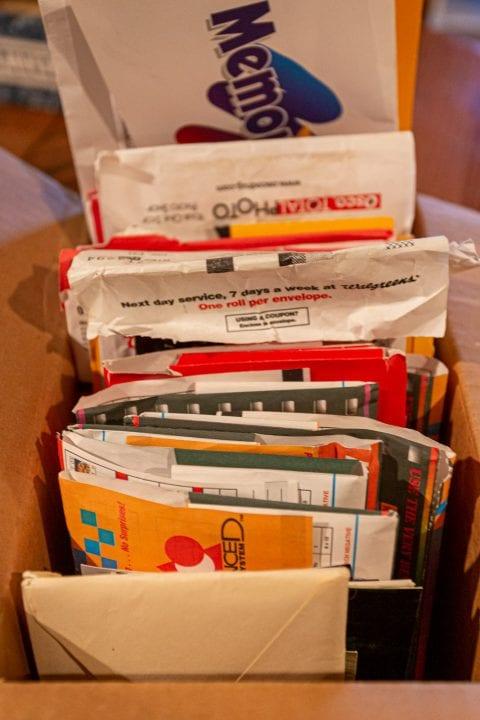 processed film envelopes