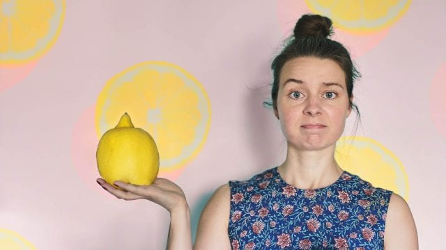 A big lemon lemonade
