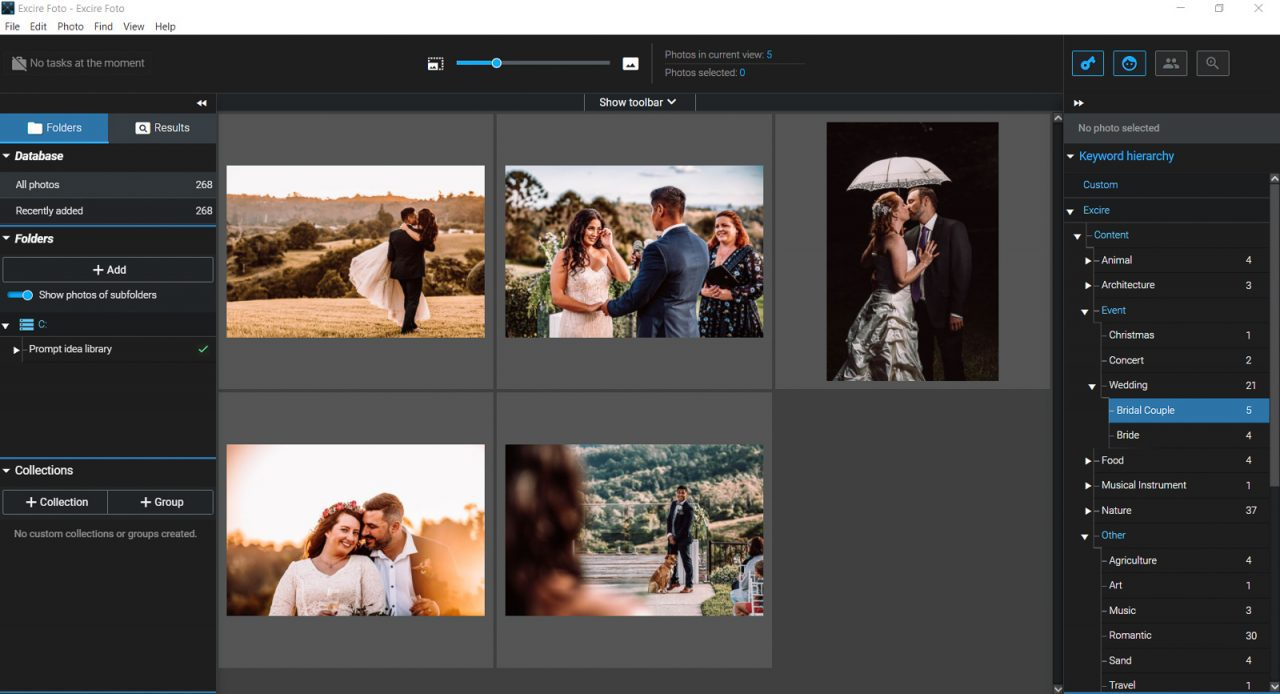 Screenshot of Excire Foto keywords