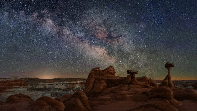 Toadstools Milky Way