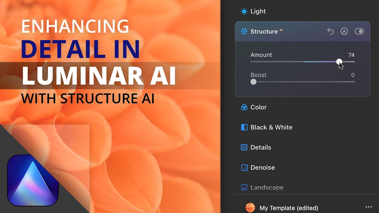 Enhance details with the Structure AI tool in Luminar AI - youtube
