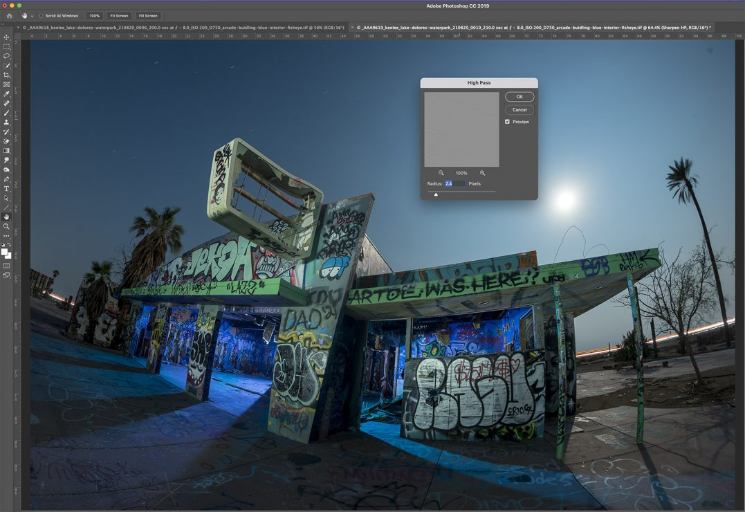 Illustrating the high pass filter in Photoshop