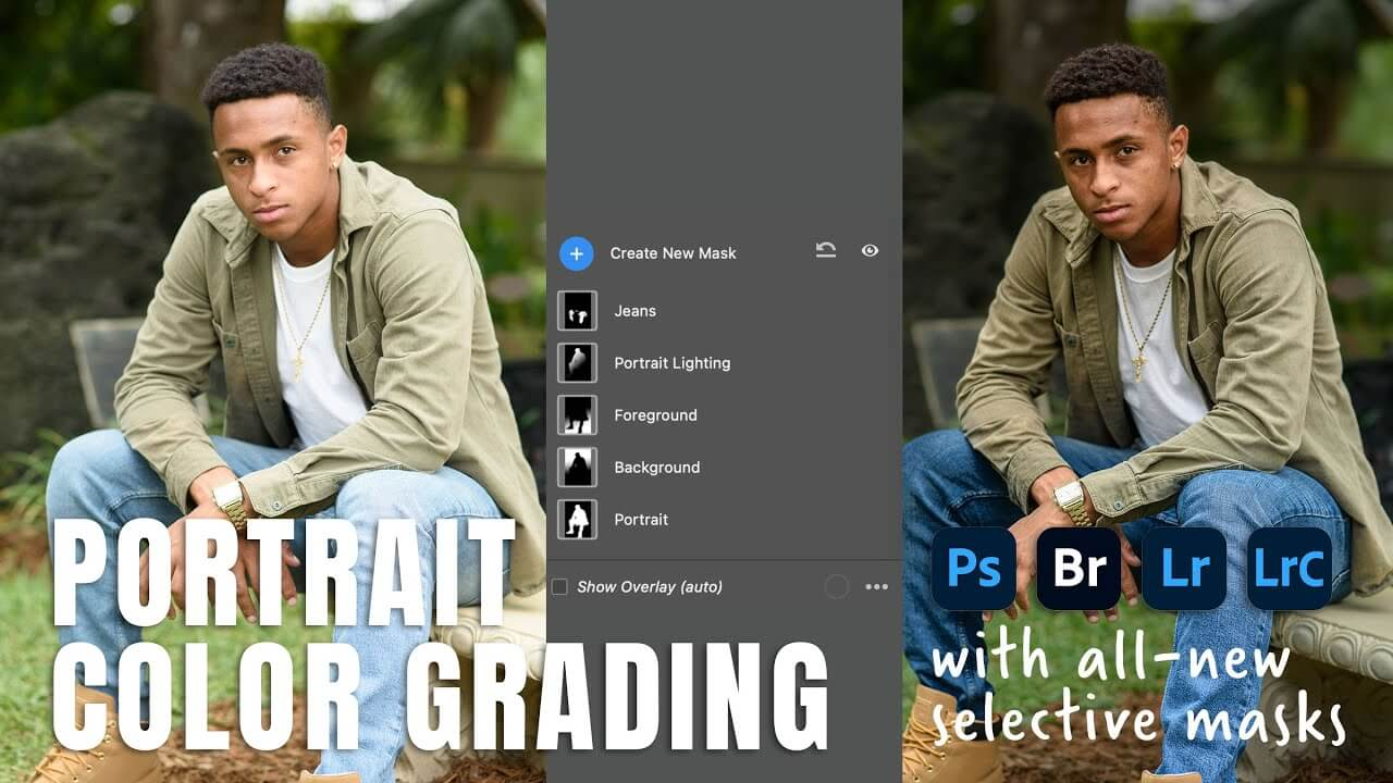 Portrait Color Grading with Total Control (All-new Adobe Masks) - youtube